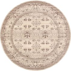 La Jolla Ivory 12 ft. 2 in. x 12 ft. 2 in.Round Area Rug