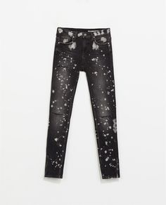 Image 6 of JEANS WITH PAINTED SPOTS AND RIPS from Zara