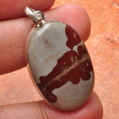 Checkout this amazing deal Sterling Silver and Natural Chohua Pendant with 925 Chain,$12.5