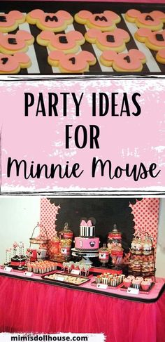 Minnie Mouse Party: Modern Pink Minnie Mouse Birthday. Here is a fun twist on the classic Minnie Mouse birthday with some black and white and pretty pink! There is nothing quite like hot pink and Minnie Mouse! #minnie #minniemouse #birthday #girl #party #partyideas #parties #diy #kids #crafts Mickey Mouse Treats, Minnie Mouse Cake Pops, Minnie Mouse Clubhouse, Mickey Mouse Parties, Pink Minnie, Birthday Party Treats, 1st Birthday Party For Girls, 1st Birthday Party Decorations, Mickey Mouse Birthday