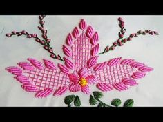Awesome Most Popular Embroidery Patterns Ideas. Most Popular Embroidery Patterns Ideas. Hand Embroidery Patterns Flowers, Hand Embroidery Tutorial, Floral Embroidery, Embroidery Stitches, Bullion Embroidery, Brazilian Embroidery, Satin Stitch, Crochet Squares, Bed Sheets
