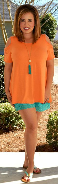 Perfectly Priscilla Boutique - No Worries Top  - Tangerine, $28.00 (http://www.perfectlypriscilla.com/no-worries-top-tangerine/)