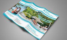 Travel Tri Fold Brochure 01 by Creative Design on Creative Market