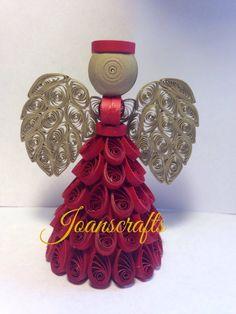 Rojo y oro Ángel Quilled quanity limitada