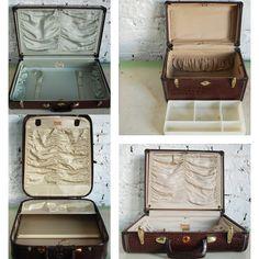 Vintage Samsonite leather luggage Set of 4. $290.00, via Etsy.