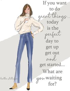 Items similar to Great Things - Heather Stillufsen - Fashion Illustration - Art for Women - Quotes for Women - on Etsy Postive Quotes, Uplifting Quotes, Inspirational Quotes, Positive Quotes For Women, Positive Life, Positive Mindset, Rose Hill Designs, Notting Hill Quotes, Motivational Images