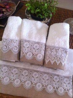 Toalhas para lavabo.