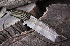 """Handcrafted FOF """"Grit 55"""" Full tang fixed blade Tanto and Custom Tactical knife"""