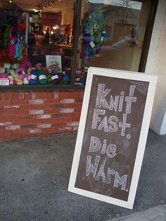 Knit fast, die warm! Baaad Anna's in Hastings Sunrise, Vancouver Canada http://baaadannas.com/