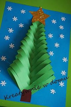 Christmas Cards Part 2 Creative at home Noel Christmas, Christmas Crafts For Kids, Christmas Activities, Christmas Projects, Winter Christmas, Holiday Crafts, Christmas Decorations, Christmas Ornaments, Christmas Tree Paper Craft