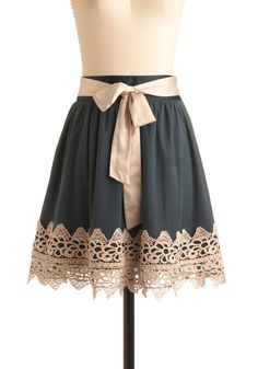 skirt with lace and bow