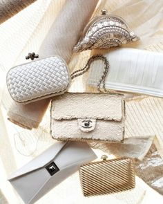 #white and gold clutches...