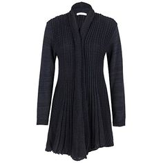 d7c695830e Womens Girls Ladies Knitted Big Plus Size Crochet Boyfriend Cardigan  Waterfall Jumper - UK 16 18