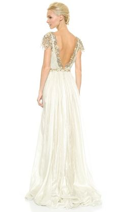 Marchesa Hand Pleated Chiffon Bridal Gown Wedding Dress | Get paid up to 9.2% Cashback when you shop at SHOPBOP with your DubLi membership. Not a member? Sign up for FREE at www.downrightdealz.net