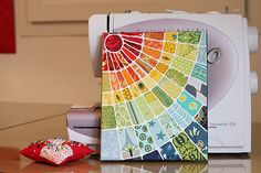 fabric on canvas art quilt...love this idea