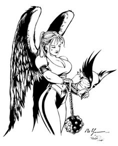 All in a day's work- Hawkgirl