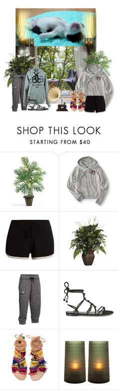 """relaxing"" by snowmoon ❤ liked on Polyvore featuring Aéropostale, Pepper & Mayne, Nearly Natural, Under Armour, Rebecca Minkoff, Elina Linardaki and Eichholtz"