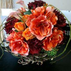 Silk flowers bright orange and fresh looking ! - Studio 100