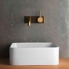 Faucet Strommen Pegasi Bath or Basin Mixer Antique Brass Light - Sydney Taps