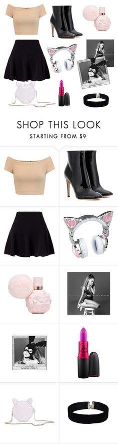 """Steal her Style: Ariana Grande"" by lizdp ❤ liked on Polyvore featuring Alice + Olivia, Gianvito Rossi, Miss Selfridge and MAC Cosmetics"