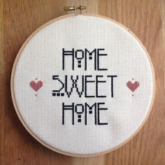 Home Sweet Home Cross Stitch by NoBasicStitches on Etsy