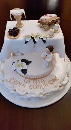 © Rosellina Incandela Boy Communion Cake, First Holy Communion Cake, Religious Cakes, Confirmation Cakes, Specialty Cakes, Occasion Cakes, Love Cake, Cute Cakes, Celebration Cakes