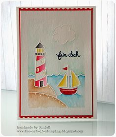 Lawn Fawn - Life is Good, Float My Boat, Sunny Skies _ gorgeous card by Sonja at The Art of Stamping: Willkommen Sommer - Lawn Fawn lässt grüßen