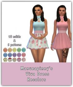 Viva Dress Recolors at Maimouth Sims4 via Sims 4 Updates