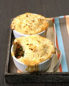 Shepherd's Pies- This recipe is for the traditional lamb potpie. (though you can replace the lamb)