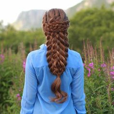"""""""Warrior braid"""", inspired by Thank you all so much for your sweet comments on our last post❤️ braid // long hair // brunette // hairstyle // Creative Hairstyles, Fancy Hairstyles, Braided Hairstyles, Hairstyles Pictures, Warrior Braid, Sweethearts Hair Design, Beautiful Braids, Braided Ponytail, Hair Art"""