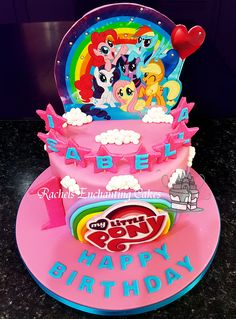 My Little Pony Themed Birthday Cake by Rachels Enchanting Cakes, Sheffield, www.rachelsenchantingcakes.com