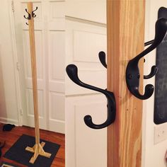 Project complete: a #coatrack tree made from a single piece of 120-year-old #salvaged #NorthCarolina barn pine. Total cost: $8. #uptopwoodshop #woodworking #diy #handmade #upcycle by uptopindustries
