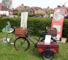 1951 Cyclemaster Roundsman Gundle Model 'RR' Dual-Carrier Tradesman's Delivery Bicycle & Sidecar | www.Oldbike.eu