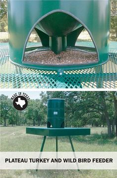 Attract a variety of coveted wildlife species with Plateau's wide array of Texas-made products including watering stations, bird feeders, nest boxes, and more. Deer Feeders, Wild Bird Feeders, Guinea Fowl, Wild Turkey, Bad To The Bone, Turkey Hunting, Hobby Farms, Wild Birds, Habitats