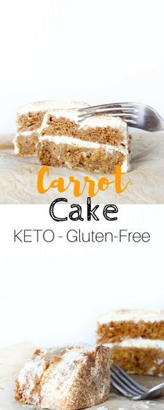 Keto Carrot Cake with Cream Cheese Frosting - This Carrot cake is not only a better low carb alternative for you but is also a very delicious one. Low Carb Keto, Low Carb Recipes, Cooking Recipes, Healthy Recipes, Healthy Nutrition, Lunch Recipes, Paleo Recipes, Free Recipes, Easy Recipes