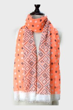 Chevron Polka Dot Scarf in Confection on Emma Stine Limited