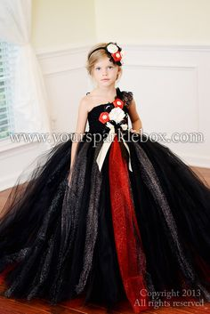 Black and Red Vintage tutu dress by yoursparklebox Your Sparkle Box flower girl dress