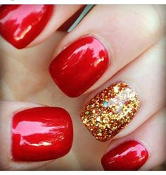 Red with a little glitter