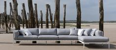 3 seater corner sofa Natal Alu Sofa Collection by TRIBÙ Outdoor Cushions, Outdoor Sofa, Outdoor Decor, Garden Furniture, Outdoor Furniture, Corner Sofa, Fabric Sofa, Decoration, My Dream Home