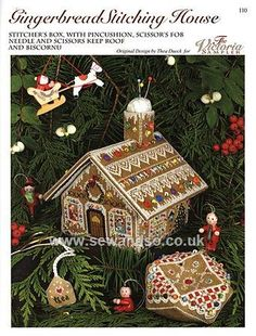 Buy 110 - Gingerbread Stitching House Chart Leaflet Online at www.sewandso.co.uk