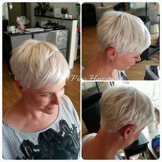 #ShareIG #platinablond #platinablonde #pixie #pixiecut #frisörstockholm #klippning #slingor #stockholmstad #stockholm #sthlm #idag #olaplex www.pirjohairstylist.se Kungsholmen Pretty Short Hair, Short Hair Back, Chic Short Hair, Short Grey Hair, Short Hair Styles, Thin Hair Short Haircuts, Edgy Pixie Hairstyles, Short Hair Older Women, Short Hairstyles For Women