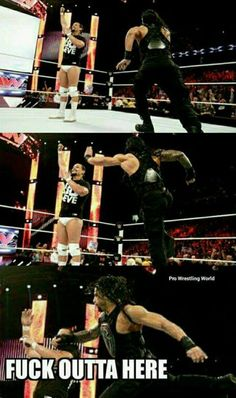 Roman Reigns and Bo Dallas Wrestling Quotes, Raw Wrestling, Watch Wrestling, Wrestling Superstars, Roman Reigns Memes, Wwe Roman Reigns, Roman Reigns Dean Ambrose, Wwe Funny, World Heavyweight Championship