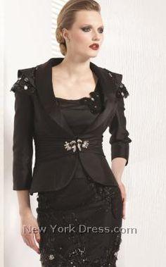 Black cocktail dress hip length jacket