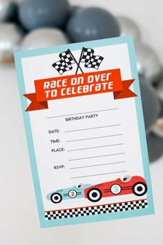 Don't miss this beautiful vintage car birthday party on CatchMyParty.com! Love the party invitations! #catchmyparty #partyideas #vintagecars #carss #vintagecarparty #boybirthdayparty #partyinvitation