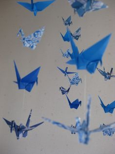 "Origami Crane Mobile ""Spiritual Comfort"" by makikomo on Etsy, $36.00"