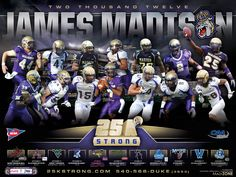2012 JMU football schedule poster. Click to download full version.