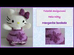 Tutorial amigurumi Hello Kitty - Margarita bordada - YouTube