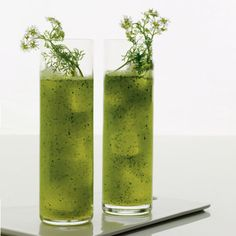 Vodka, cilantro, cucumber, lime, soda // More Recipes with Cilantro: http://www.foodandwine.com/slideshows/cilantro #foodandwine