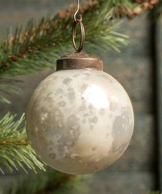 Look what I found on #zulily! White Glass Ball Ornament - Set of 12 by Ragon House #zulilyfinds