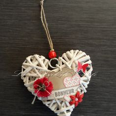Coeur en rotin 10 ans de mariage pinterest - Coeur en osier ...